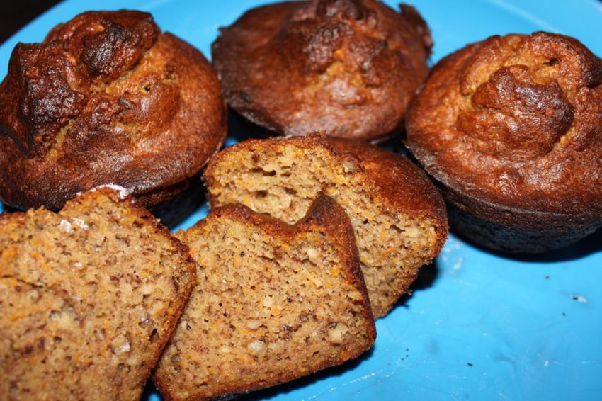 rezept amaranth muffins mit banane und karotten sehr gesund. Black Bedroom Furniture Sets. Home Design Ideas