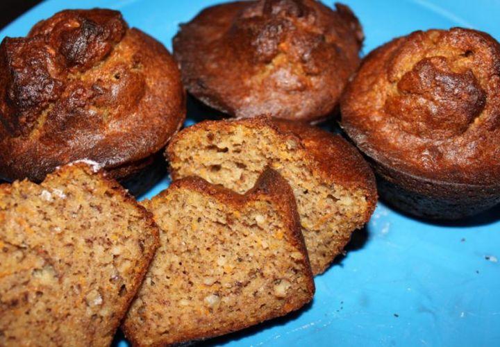 Amaranth-Muffins mit Banane und Karotten (sehr gesund)