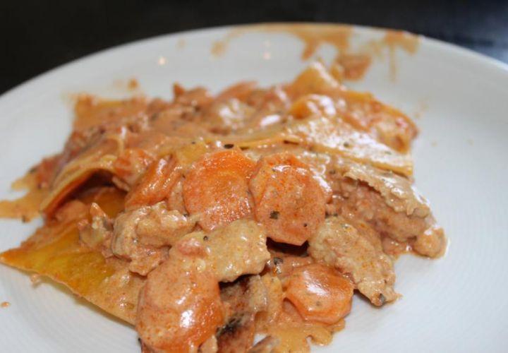 Karotten-Puten Lasagne