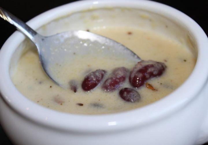Polentasuppe mit Bohnen