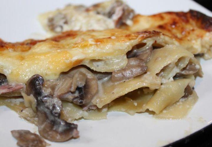 Schinken-Pilz Lasagne