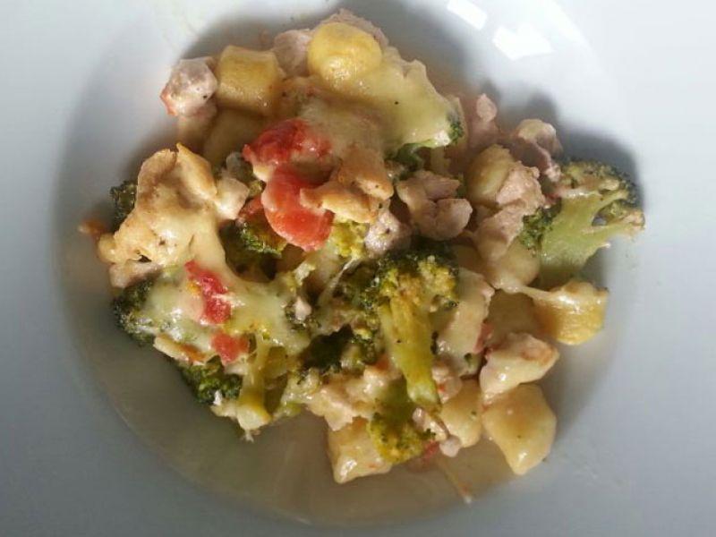 Gnocchi mit Gemüse und Poulet