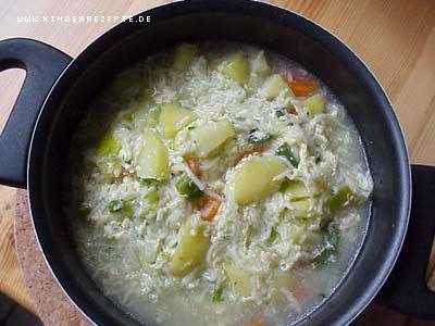 Man kann diese suppe nach belieben mit einigem anderen gemüse