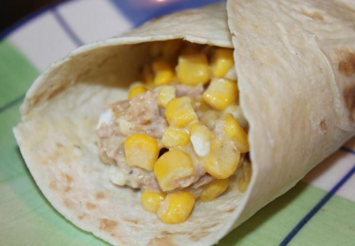 Thunfisch-Mais Wraps