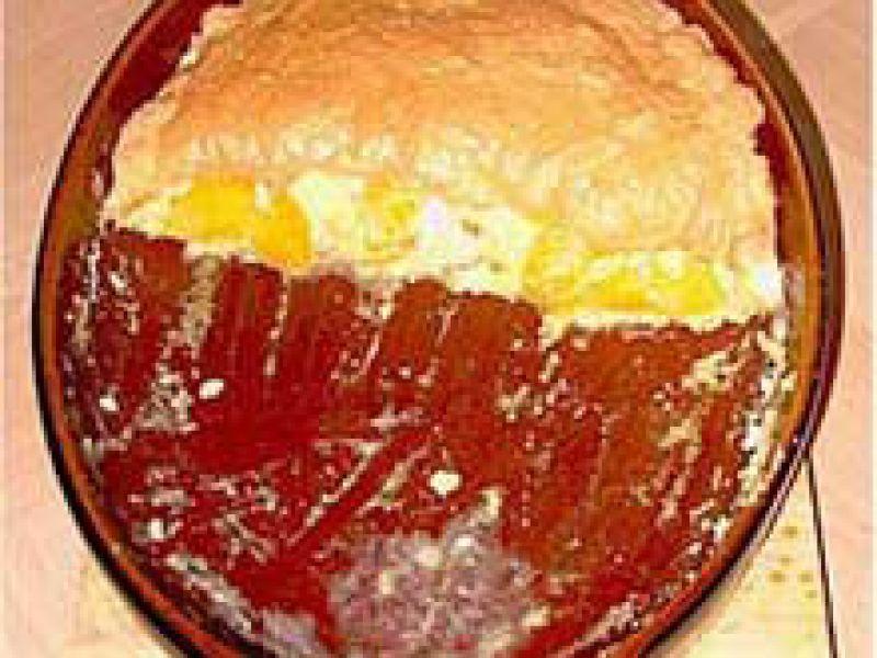 Milchreis-Pfirsich-Auflauf