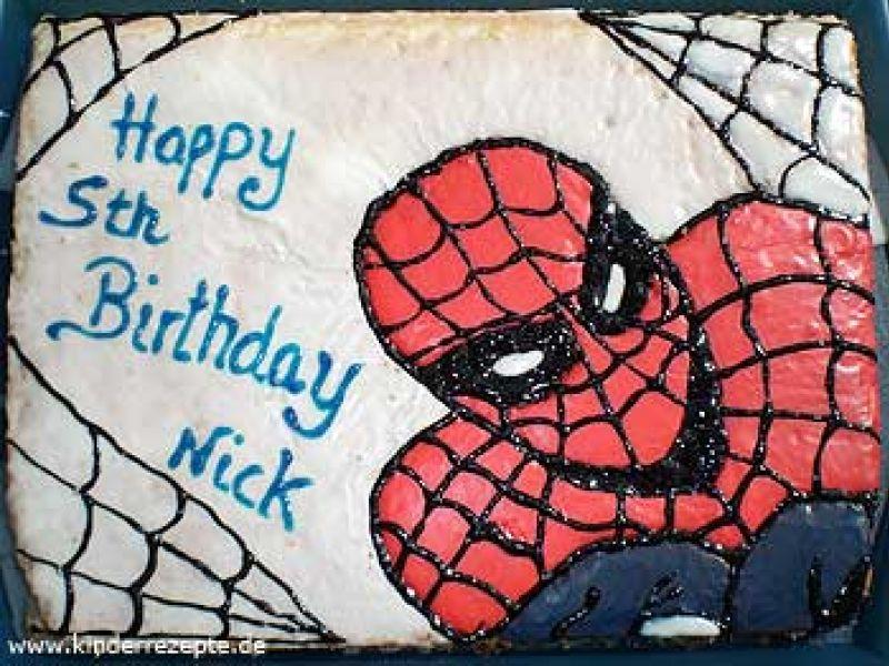 Rezept Spinnenmann Kuchen Kinderrezepte De