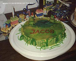 Rezept Froschteich Torte Kinderrezepte De