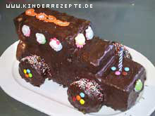Rezept Schoko Auto Kuchen Kinderrezepte De